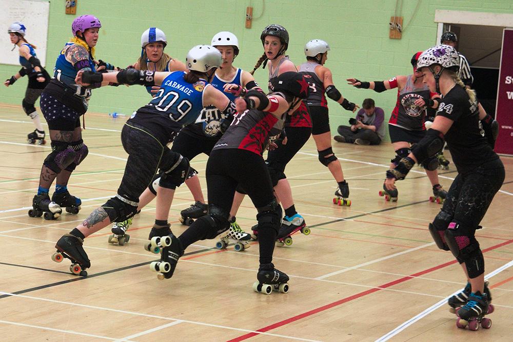 Roller Derby Game Wakefield VS Durham